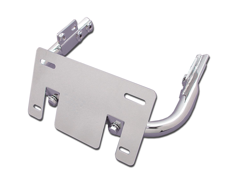 Chrome Lay-Down License Plate Bracket