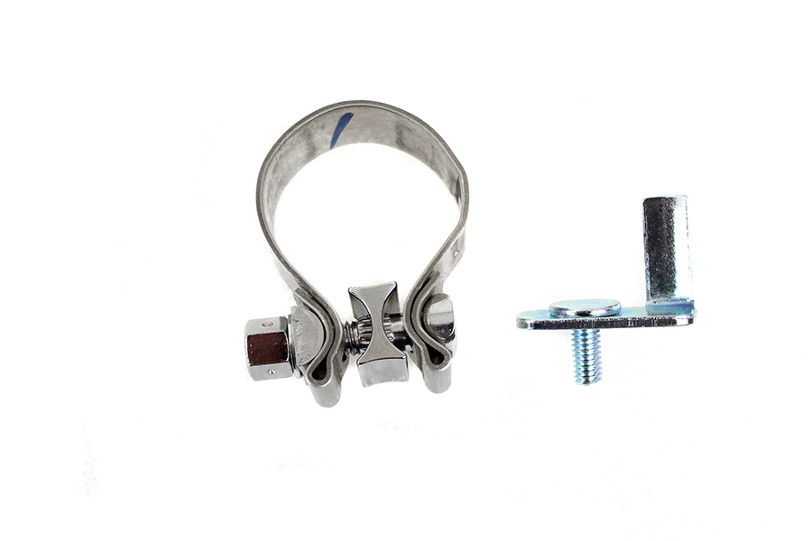 FLT Rear Exhaust Header Tab and Clamp Kit