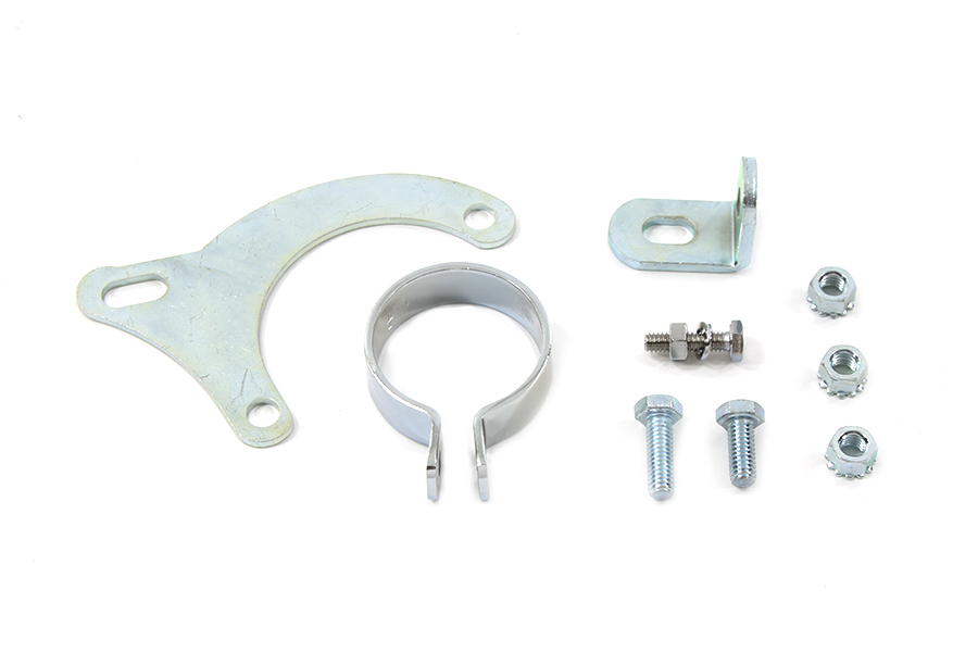 Exhaust Clamp and Bracket Set Chrome