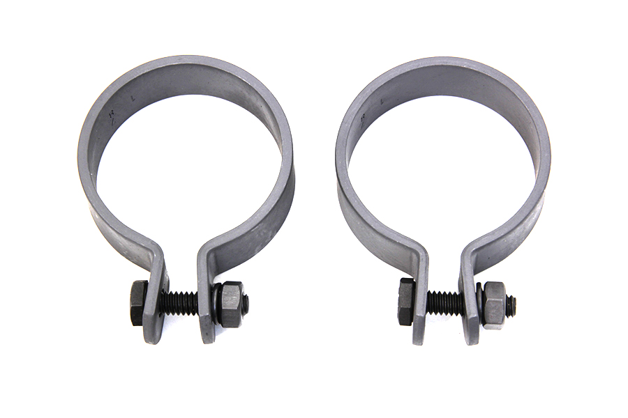 "Parkerized 1-7/8"" Muffler End Clamp Set"