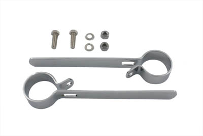 "Chrome 1-1/2"" Exhaust Hanger Clamp Set"
