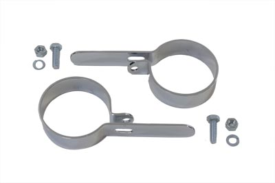 "Chrome 2-3/4"" Muffler Hanger Clamp Set"