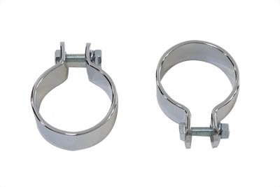 "Chrome 1-3/4"" Muffler Body and End Clamp Set"