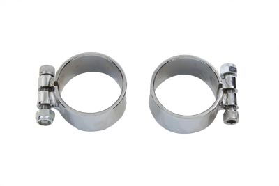 Chrome Allen Type Exhaust Clamp Set Extra Wide