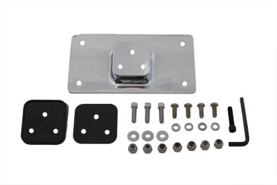 License Plate Frame Bracket Kit Chrome
