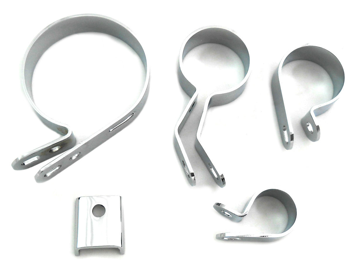 Chrome Exhaust Clamp Kit