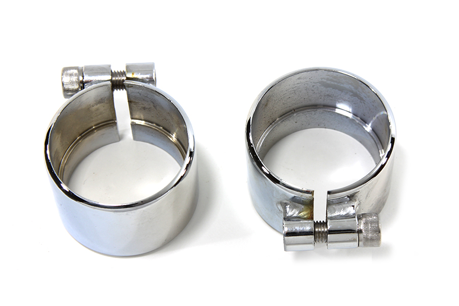 "Chrome 1-3/4"" Seamless Exhaust Clamp Set"