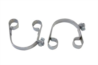 Chrome Muffler Clamp Set