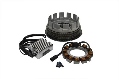Alternator 19 Amp Charging System Kit Chrome