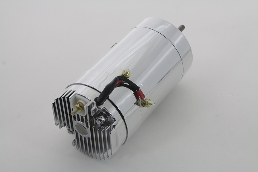 Chrome 12 Volt 2-Brush Generator with Low Output