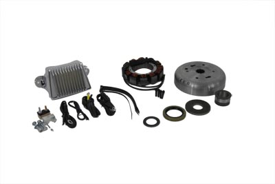 V-Twin Mfg 32-7807 Alternator Charging System Kit 32 Amp
