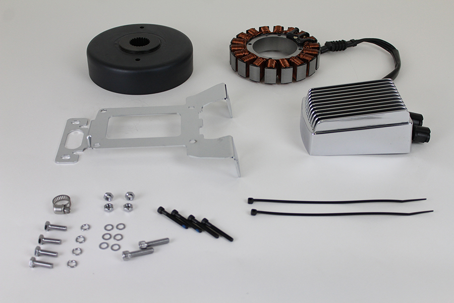 Alternator Charging System Kit 54 Amp Chrome