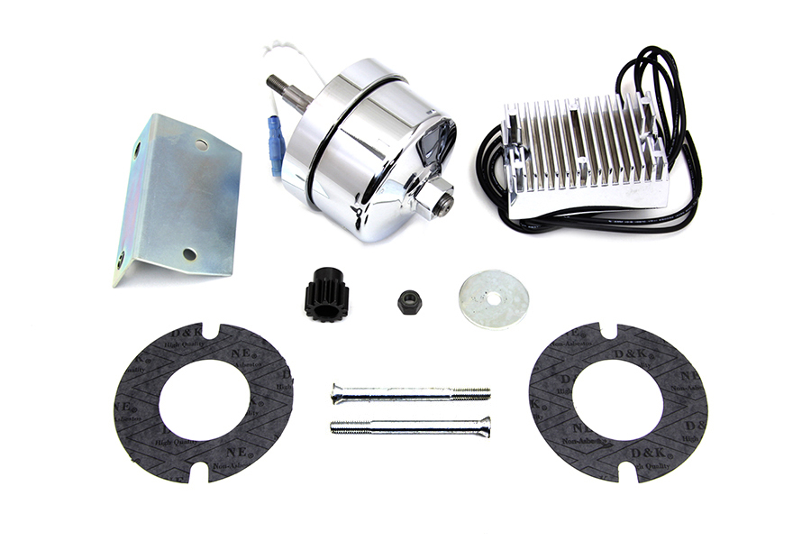 Chrome 12 Volt Alternator Generator Conversion Kit