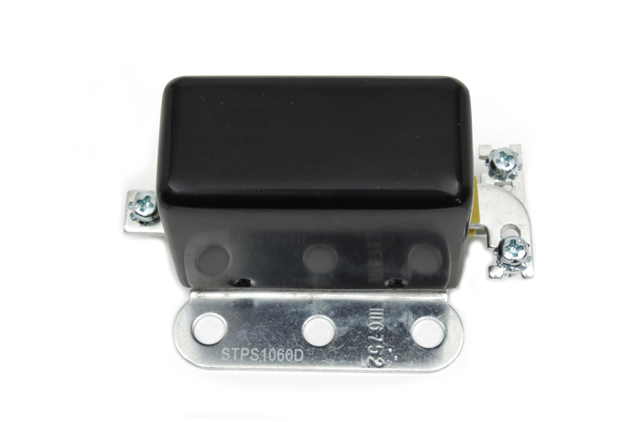 Solid State 6 Volt Relay with Smooth Black Cover