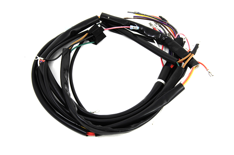 motorcycle wires & electrical cabling for harley davidson fatbob for motorcycle swingarm kits main wiring harness kit fits harley davidson,v twin 32 8014