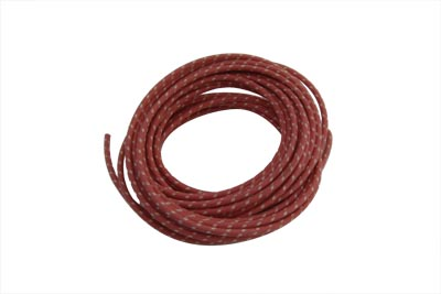 Red 25' Cloth Covered Wire