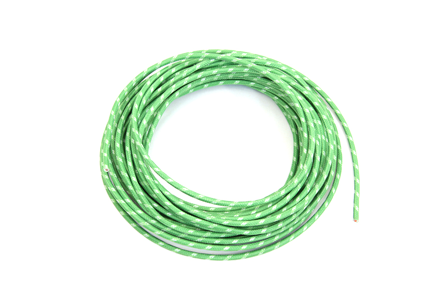 Green 25' Cloth Covered Wire