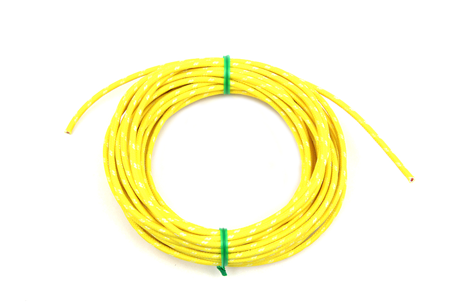 Yellow 25' Cloth Covered Wire