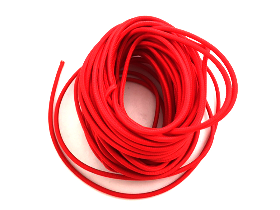 Pure Red 25' Braided Wire