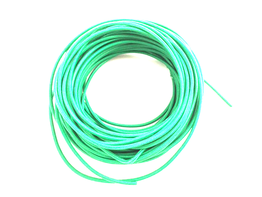 Pure Green 25' Braided Wire