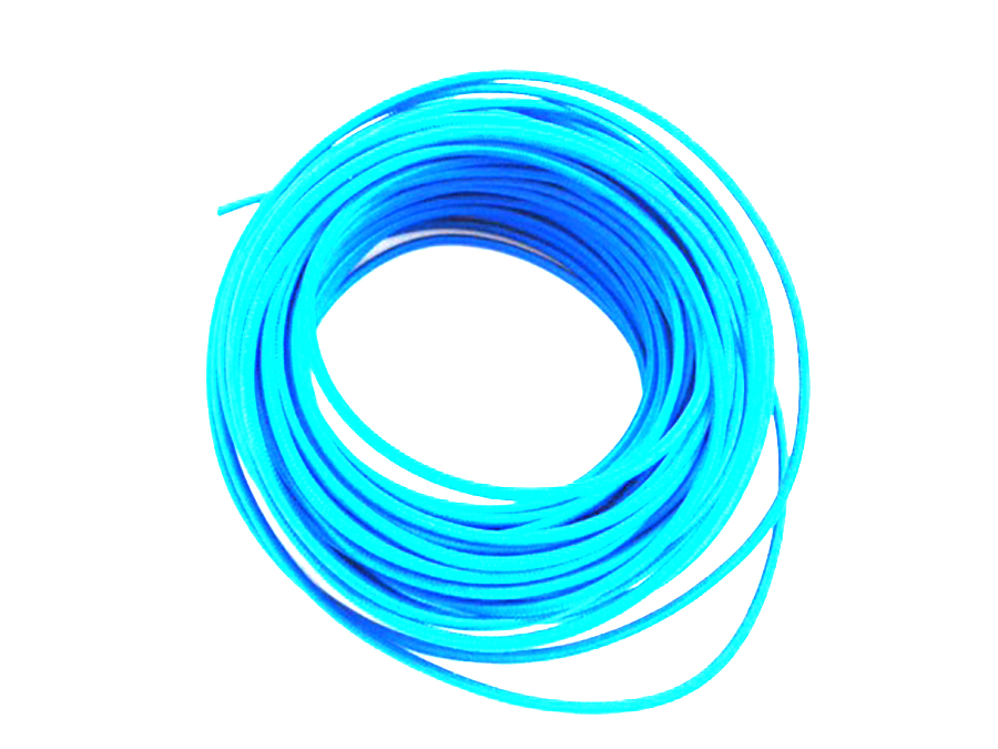Pure Blue 25' Braided Wire