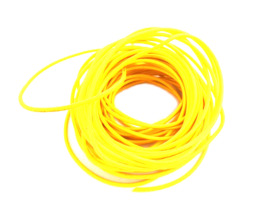 Pure Yellow 25' Braided Wire