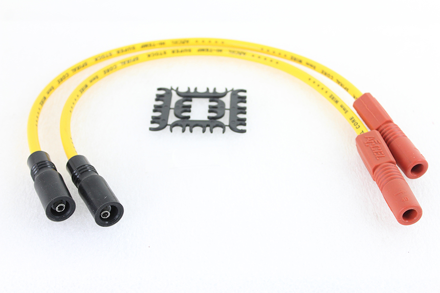 Accel 8mm S/S Spiral Core Ignition Wire Set Yellow
