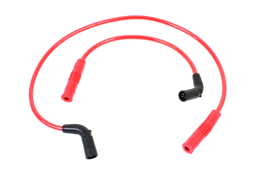 Accel 8mm S/S Spiral Core Ignition Wire Set Red