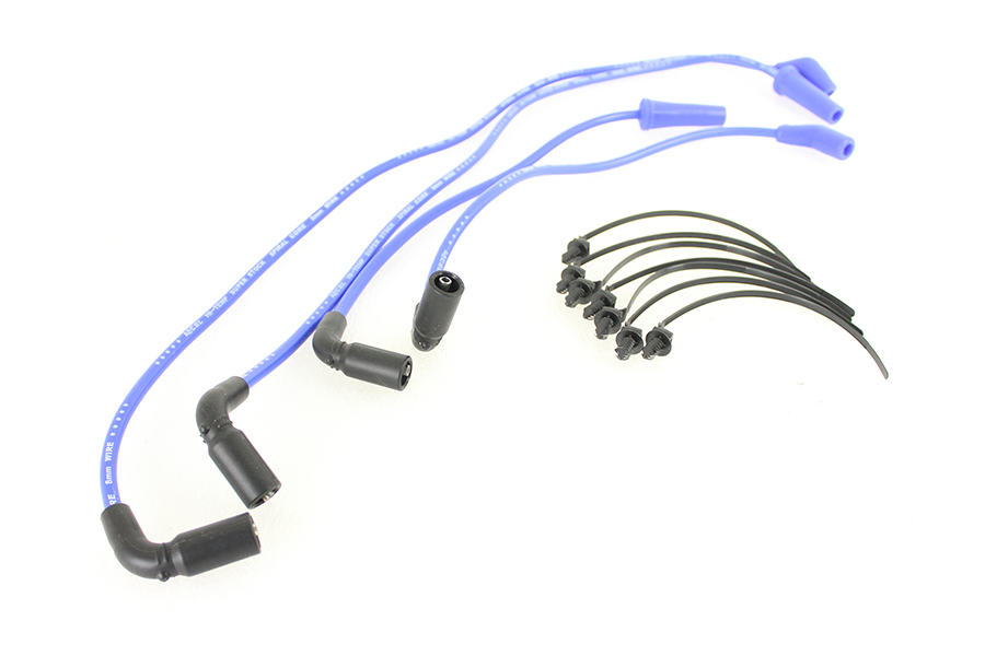 Accel 8mm S/S Spiral Core Ignition Wire Set Blue