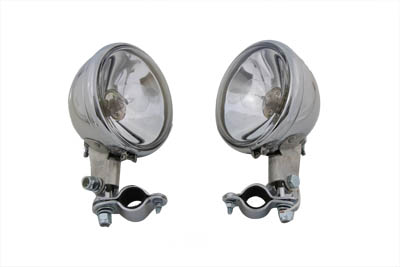 Replica Chrome Guide Spotlamp Set 6 Volt