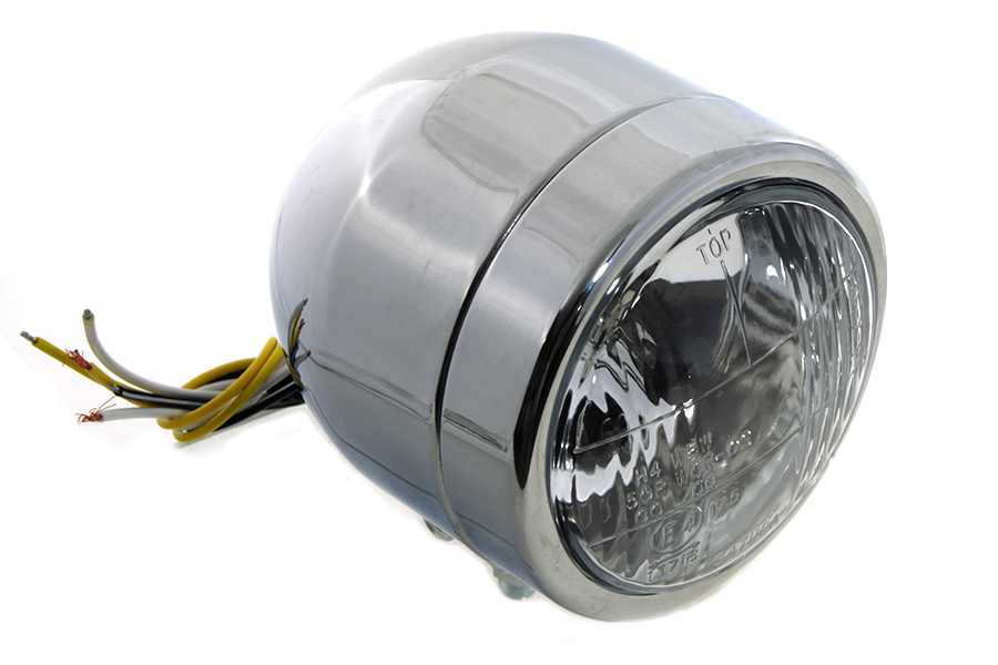 "4"" Round Diamond Cut Style Headlamp Chrome"