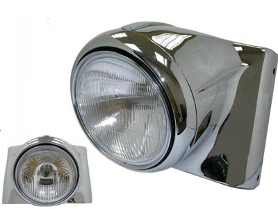 "Chrome 7"" Headlamp Cowl Kit"
