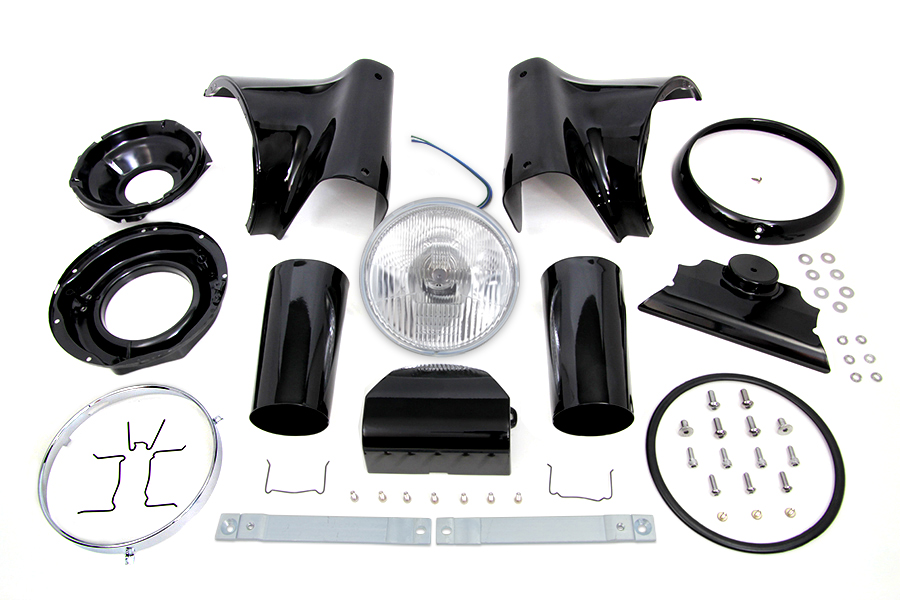 "Black 7"" Headlamp Cowl Kit"