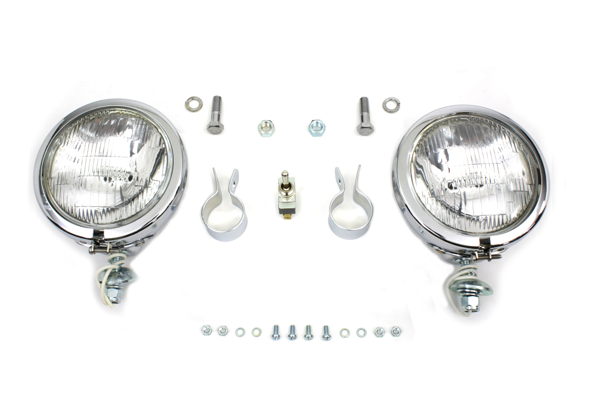 "12 Volt 4 1/2"" Chrome Spotlamp Kit"