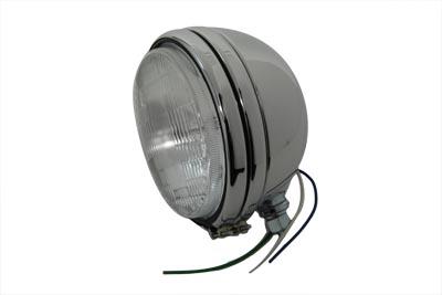 "5-3/4"" Round Stock Type Chrome Headlamp"