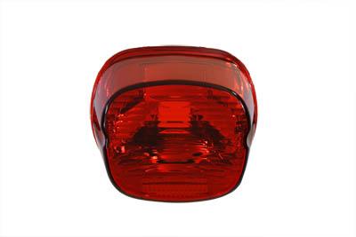 VTwin Red Slim Horizontal Laydown Taillight Lens 03-17 Harley Touring FLT