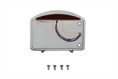 Chrome Slice LED Tail Lamp License Plate Assembly