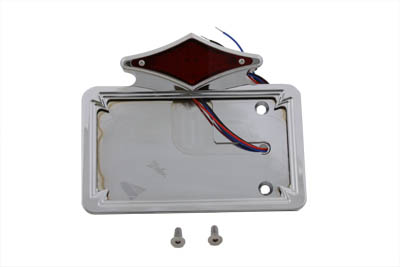 Chrome Diamond LED Tail Lamp License Plate Assembly