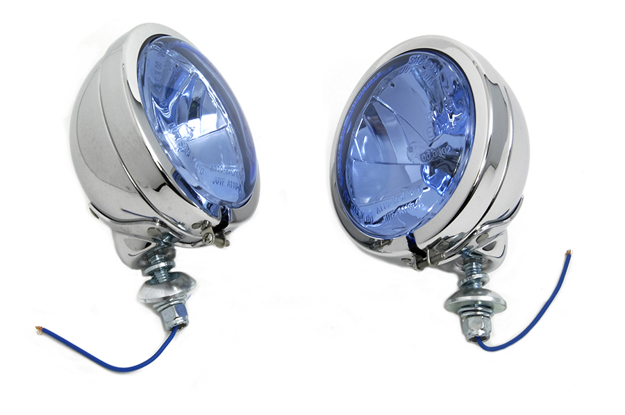 H-3 Spotlamp Set with Blue Lens