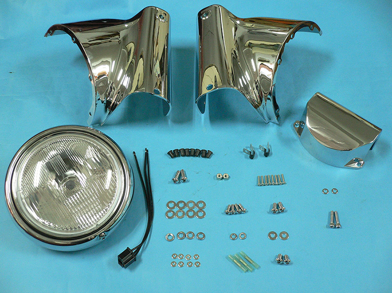 Chrome Headlamp Cowl Kit