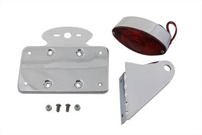 Chrome Horizontal Cateye Tail Lamp Kit