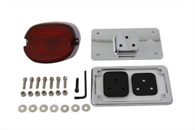 Chrome Laydown Tail Lamp License Mount Kit