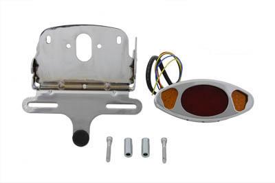 Wyatt Gatling Chrome Oval Tail Lamp Assembly