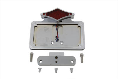 Chrome Tail Lamp and License Plate Holder