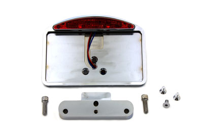 Chrome Slice LED Tail Lamp License Plate Assembly