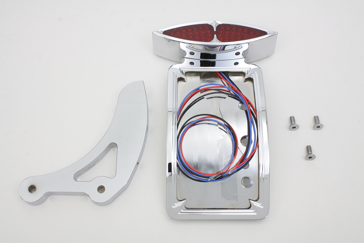 Chrome Curved Katz Eyez Style Tail Lamp Kit