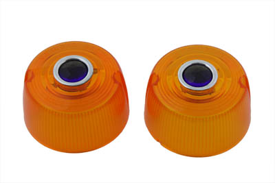 *UPDATE Turn Signal Amber with Blue Dot Lens Set