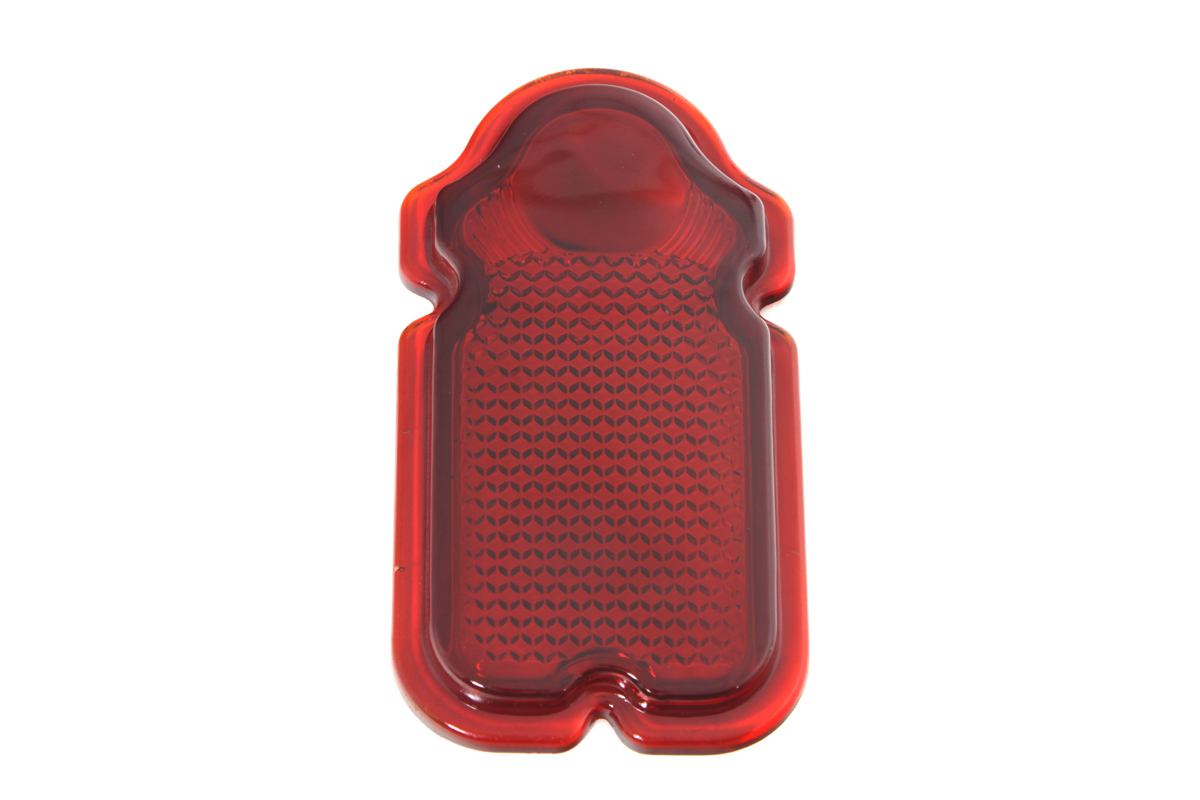 Red Glass Tombstone Tail Lamp Lens