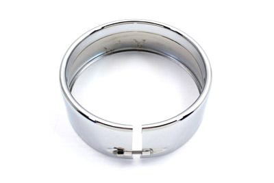 """5-3/4"""" Headlamp Chrome Frenched Trim Ring"""