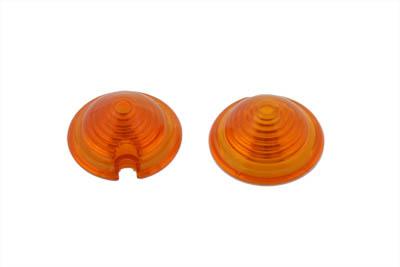 Bullet Style Marker Lamp Amber Lens Set